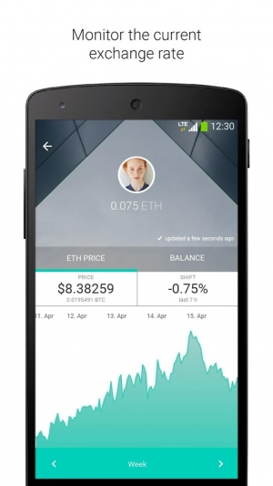 Androidアプリ「Ethereum Wallet」のスクリーンショット 4枚目