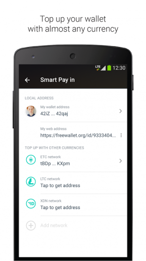 Androidアプリ「Ethereum Wallet」のスクリーンショット 5枚目