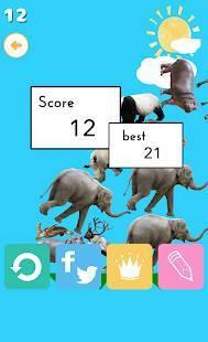 Androidアプリ「どうぶつタワー」のスクリーンショット 2枚目
