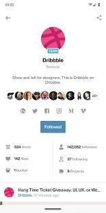 Androidアプリ「Dribbble」のスクリーンショット 3枚目