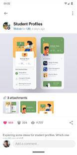 Androidアプリ「Dribbble」のスクリーンショット 2枚目