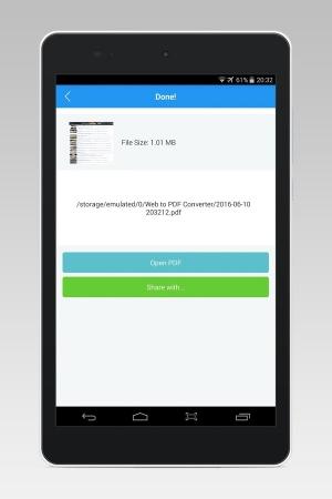 Androidアプリ「PDFのコンバーターへのWeb」のスクリーンショット 5枚目