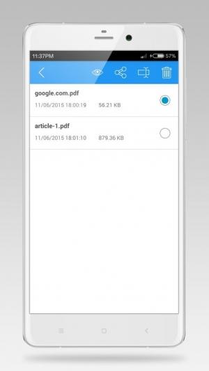 Androidアプリ「PDFのコンバーターへのWeb」のスクリーンショット 3枚目