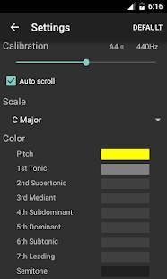 Androidアプリ「ボーカル音程モニター」のスクリーンショット 3枚目