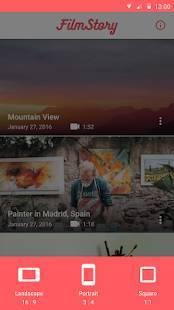 Androidアプリ「FilmStory  - 動画の作成 & 編集ならおまかせ」のスクリーンショット 2枚目