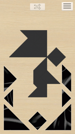 Androidアプリ「1001 Tangram puzzles game」のスクリーンショット 5枚目