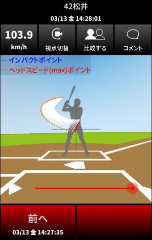 Androidアプリ「Mizuno Swing Tracer (Coach)」のスクリーンショット 4枚目