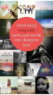 Androidアプリ「Word Swag - Cool fonts, quotes」のスクリーンショット 1枚目
