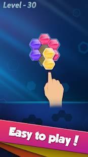 Androidアプリ「ブロック!ヘキサ パズル」のスクリーンショット 2枚目
