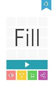 Androidアプリ「頭が良くなる 一筆書き パズルゲーム Fill」のスクリーンショット 5枚目
