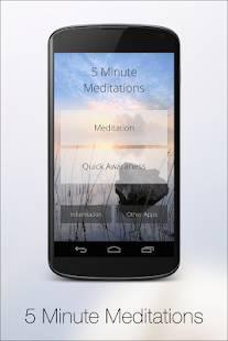 Androidアプリ「5 Minute Meditation」のスクリーンショット 1枚目