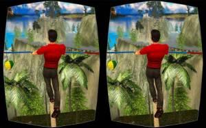 Androidアプリ「Rope Crossing Adventure VR」のスクリーンショット 2枚目