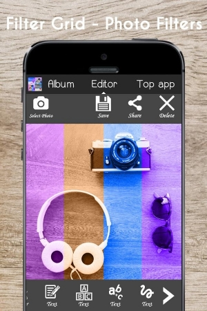 Androidアプリ「Filter Grid - Photo Filters」のスクリーンショット 3枚目