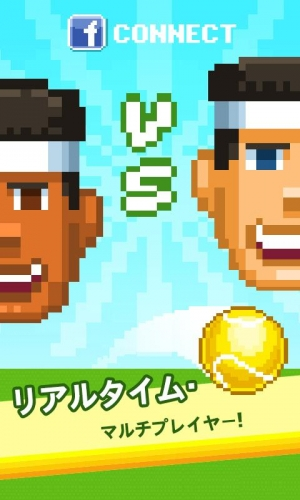 Androidアプリ「One Tap Tennis」のスクリーンショット 2枚目