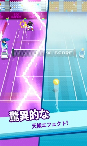 Androidアプリ「One Tap Tennis」のスクリーンショット 3枚目