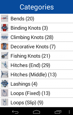 Androidアプリ「Knot Guide Free ( 100+ knots )」のスクリーンショット 1枚目