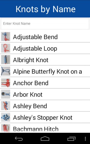 Androidアプリ「Knot Guide Free ( 100+ knots )」のスクリーンショット 4枚目