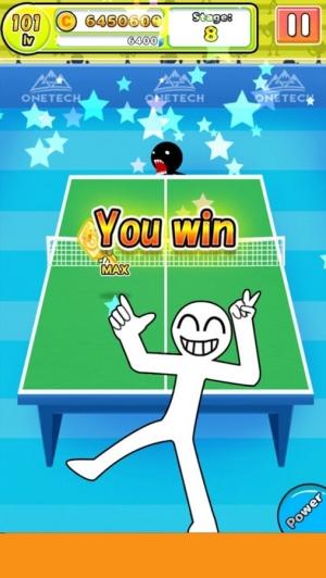 Androidアプリ「豪快ショット連発!爽快卓球ゲーム「サァァァ!」」のスクリーンショット 3枚目