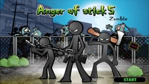 Androidアプリ「Anger of stick 5 : zombie」のスクリーンショット 1枚目