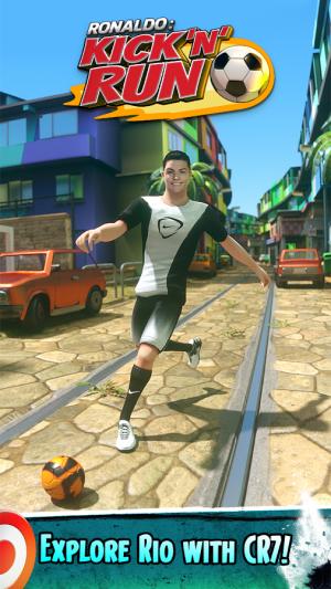 Androidアプリ「Cristiano Ronaldo: Kick'n'Run」のスクリーンショット 1枚目