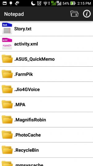 Androidアプリ「メモ帳 - テキストエディタ」のスクリーンショット 1枚目