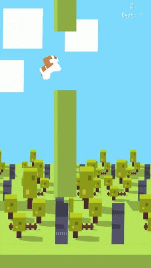 Androidアプリ「フラッピードッグ 〜激ムズ?わんちゃんぴょんぴょんゲーム〜」のスクリーンショット 2枚目