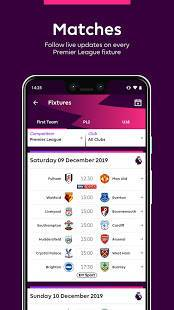 Androidアプリ「Premier League - Official App」のスクリーンショット 5枚目