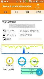 Androidアプリ「Secure Wifi switcher (Wi-Fiセキュリティ・デバイス管理・プリペイドVPN)」のスクリーンショット 1枚目