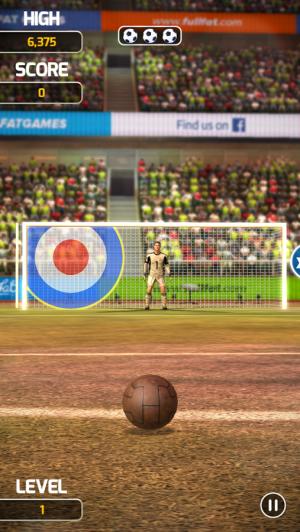 Androidアプリ「Flick Soccer 17」のスクリーンショット 1枚目