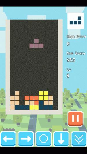 Androidアプリ「TETBLOCKS 無料で遊べるテトリス風パズル」のスクリーンショット 1枚目