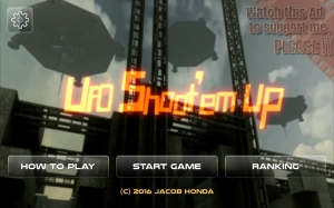 Androidアプリ「UFO Shoot'em Up」のスクリーンショット 1枚目