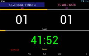 Androidアプリ「サッカー スコアーボード(Trial)」のスクリーンショット 3枚目