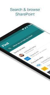 Androidアプリ「Microsoft SharePoint」のスクリーンショット 1枚目