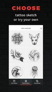 Androidアプリ「INKHUNTER - try tattoo designs」のスクリーンショット 1枚目