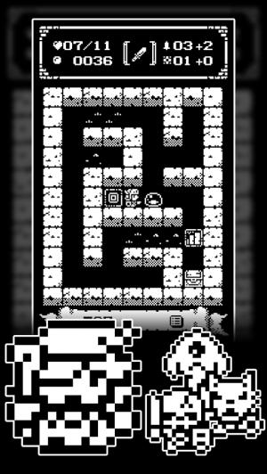 Androidアプリ「1ビットローグ ダンジョン探索RPG!」のスクリーンショット 2枚目