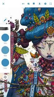 Androidアプリ「Adobe Photoshop Sketch」のスクリーンショット 1枚目