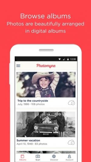 Androidアプリ「フォトアルバムスキャナー」のスクリーンショット 3枚目