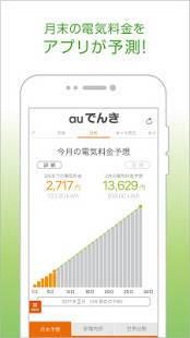 Androidアプリ「auでんき 電気が見える!電気の使いすぎもお知らせ!」のスクリーンショット 1枚目