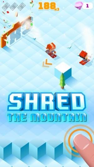 Androidアプリ「Blocky Snowboarding」のスクリーンショット 1枚目