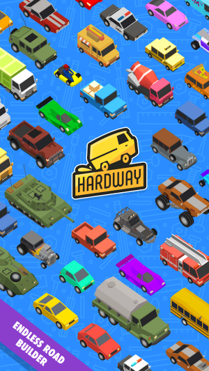 Androidアプリ「Hardway - Endless Road Builder」のスクリーンショット 3枚目