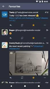 Androidアプリ「Tusky for Mastodon」のスクリーンショット 5枚目