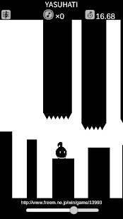 Androidアプリ「休むな!8分音符ちゃん / 声で遊ぶ新感覚アクションゲーム」のスクリーンショット 2枚目