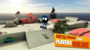 Androidアプリ「Stickman Skate Battle」のスクリーンショット 1枚目