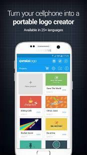 Androidアプリ「InstaLogo Logo Creator (Lite)」のスクリーンショット 1枚目