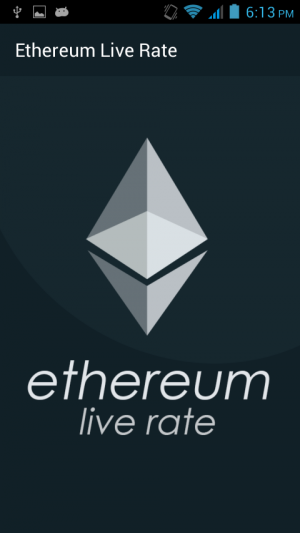 Androidアプリ「Ethereum Live Rate」のスクリーンショット 1枚目