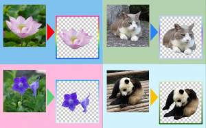 Androidアプリ「Photo Cutter 背景除去,背景透明化,写真切り出し」のスクリーンショット 1枚目