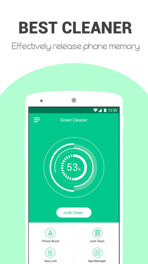 Androidアプリ「Green Cleaner」のスクリーンショット 1枚目