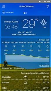Androidアプリ「天気予報」のスクリーンショット 1枚目