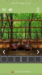 Androidアプリ「脱出ゲーム ~木漏れ日落ちる山小屋からの脱出~」のスクリーンショット 2枚目
