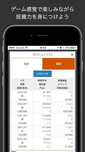 Androidアプリ「iトレFX - リアルFXシミュレーション」のスクリーンショット 2枚目